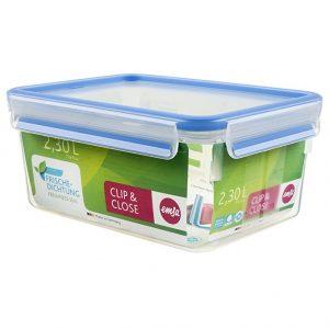 Envase de plástico rectangular 2 litros azul de degus