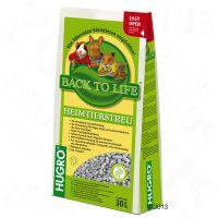 Lecho higiénico ecológico de celulosa Back to Life – 2 x 30 l – Pack Ahorro de degus