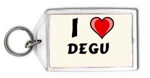 """Llavero con estampado de """"Te quiero"""" Degu"""
